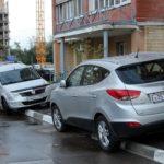 неправильная парковка машины