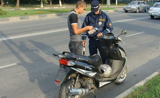 штраф за вождение мотоциклом