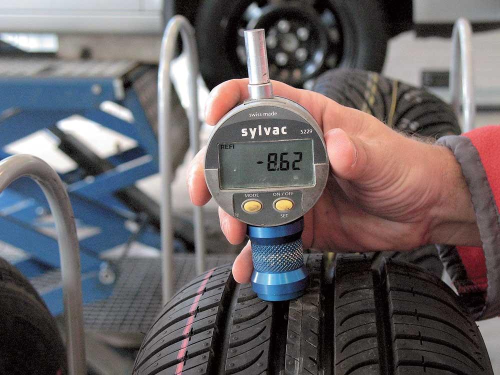 измерение высоты протектора летних шин