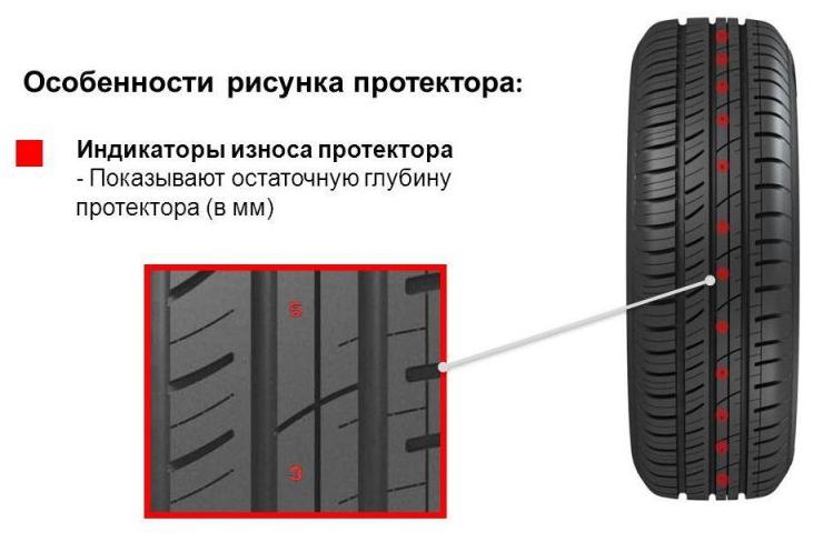 толщина протектора летней шины